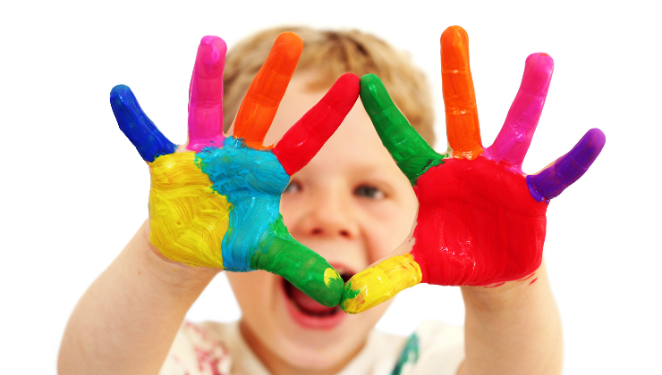 Child With Paint On HandsWEB